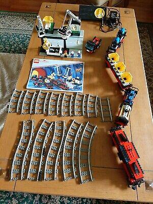Lego 9V freight train & crane railway set 4565 w/ instructions, no box EX