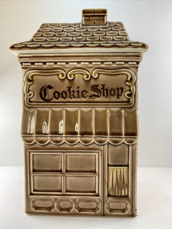 Cookie Shop Ceramic Cookie Jar Brown Bakery