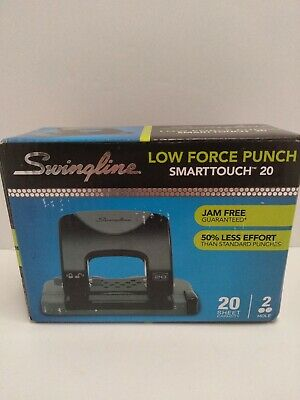 Swingline Smarttouch 2-hole Punch Low Force Jam Free Guaranteed