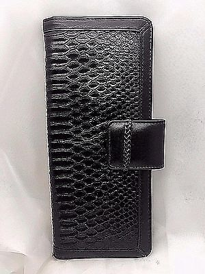 - Buxton, Faux Alligator Leather Business Card File, Black, 128 Cards ST386951