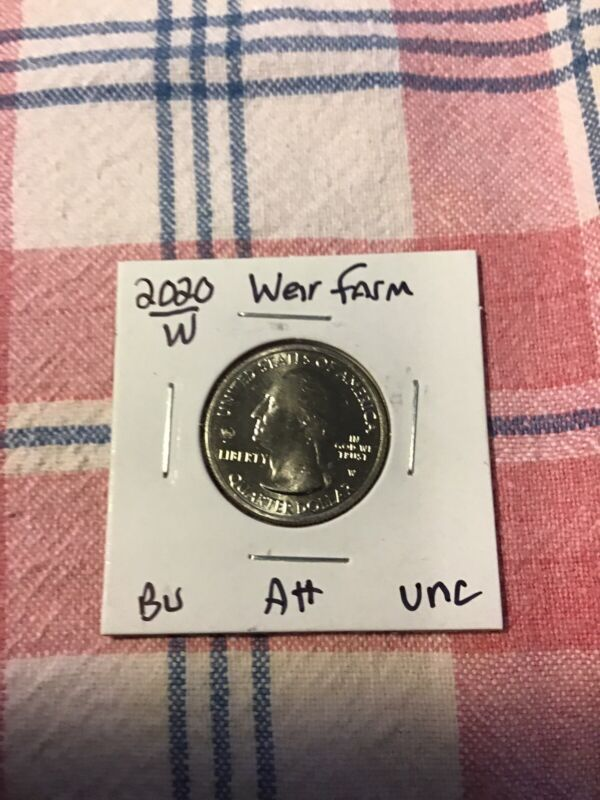 2020-W 1 UNC with V-75 privy stamp WEIR FARM W COIN 1 BEAUTIFUL CONDITION