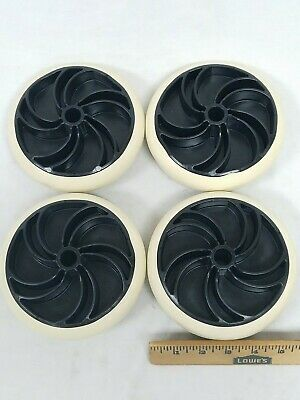 Lot Of 4 6-inch Plastic Wheels For Casters New