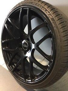 "SSW M SPEC BLACK 20"" ALLOY WHEELS AND TYRES MERCEDES AUDI VW SKODA Carramar Fairfield Area Preview"