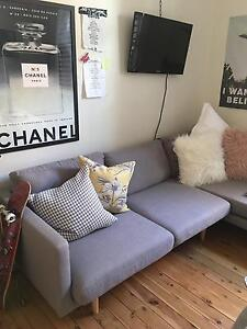 Scandinavian Style Grey Lounge Hamilton South Newcastle Area Preview