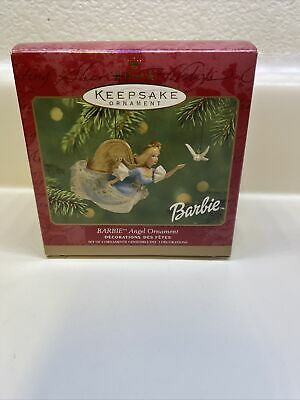 Hallmark BARBIE Angel 2pc Christmas Ornaments in Original Box