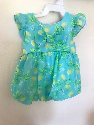 Sweet Heart Rose 6-9 Month Easter Lemon Baby Girl Dress