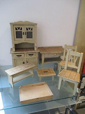 große Gründerzeit Jugendstil Puppenküchen Holzmöbel Höhe 58,50 cm Puppenhaus