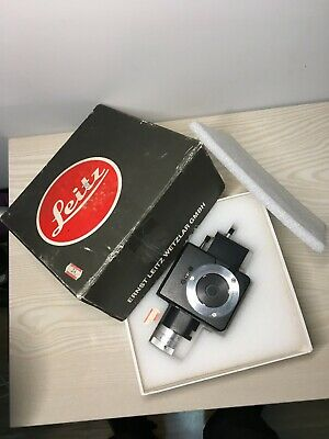 Leitz Pol Microscope Bertrand Intermediate Accessory 553404 360 Polarizer