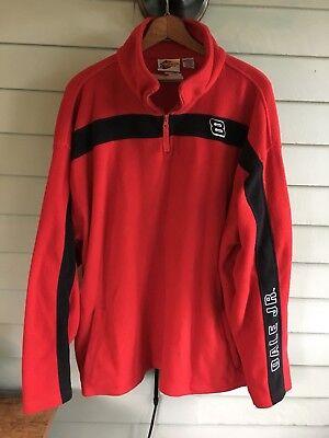 Men's Dale Earnhardt Jr Winners  Red Fleece Pullover Zip Jacket XL Extra Large Dale Earnhardt Jr Fleece