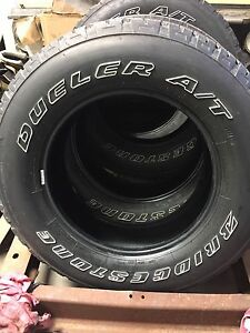Bridgestone duelers Jeep tires