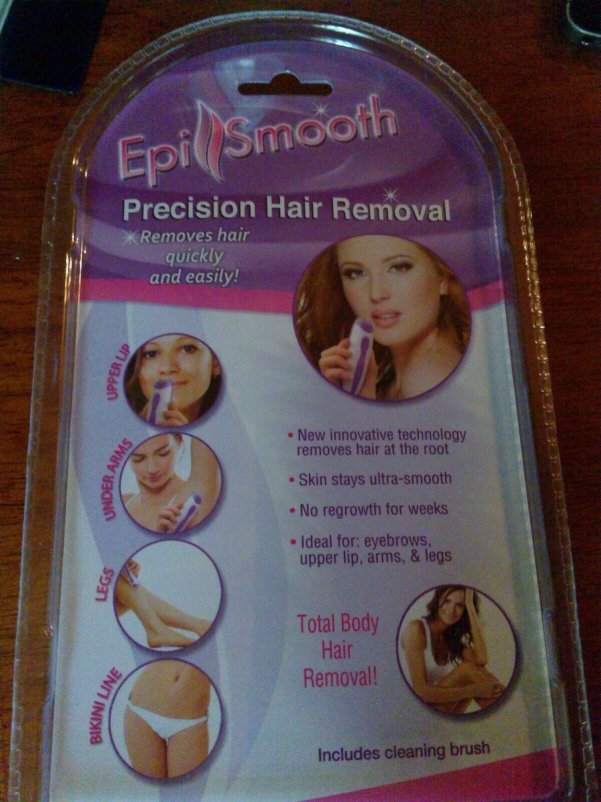 New Epi Smooth Hair Removal System  Removes Hair At The Root