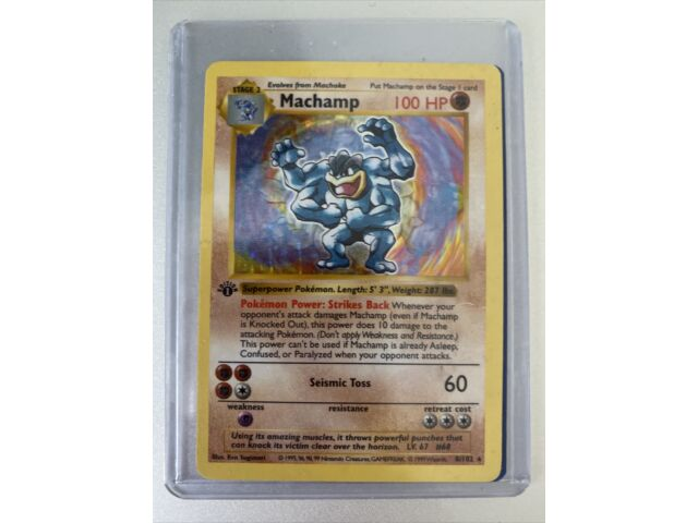 Pokémon - 1st Edition Machamp Shadowless
