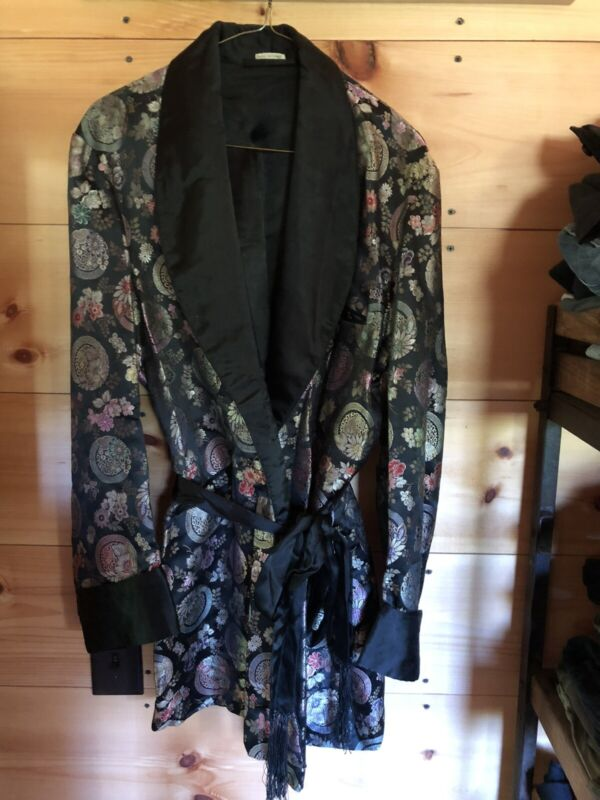 Vintage Smoking Jacket Silk?