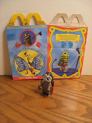 Disney A Bug's Life- McDonald's Kids Meal -Francis the ladybug w/ Box -1998
