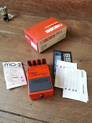 Boss MD-2 Mega Distortion Guitar Pedal with Original Box and Power Adapter