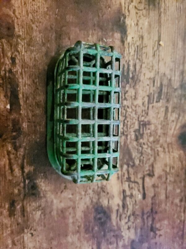 Vintage Metal Flower Frog Cage Style 5 inches long.