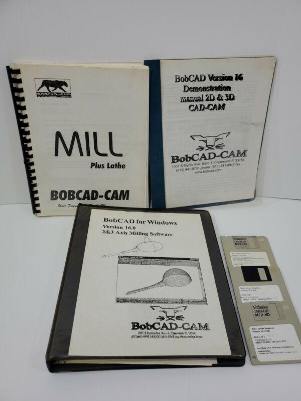 BobCAD-CAM v16 3 Books and 3 floppy Discs no key ?