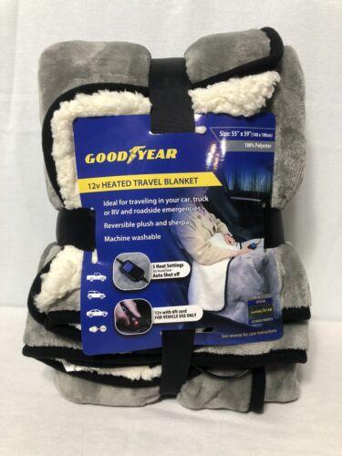 official 12v heated soft fleece travel blanket