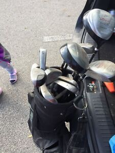 Used set of clubs with bag
