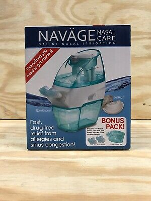 Navage Nasal Care Saline Nasal Irrigation w/Bonus Pack Extras + 18 SaltPods NEW!