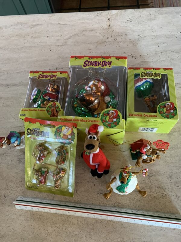 Lot Of 11 Scooby Doo Christmas Ornaments Includes Minis!