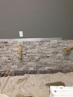 Rock wall installation