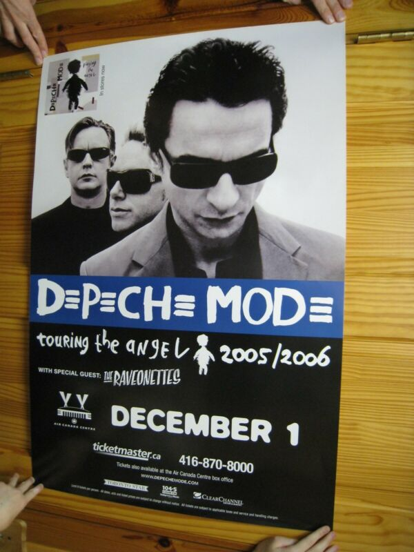 Depeche Mode Poster Touring The Angel 2005 2006 The Raveonettes