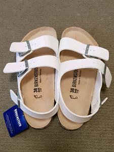62c78a5e60f Birkenstock Milano White size 38 brand new with tag   box