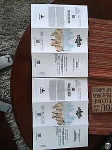 Maroon 5 concert tickets(Bell Center/Montreal)