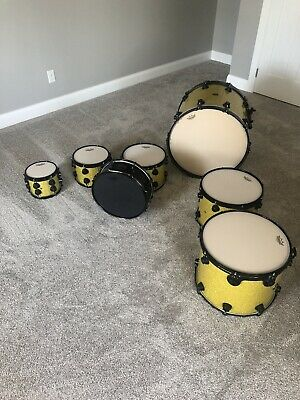 DW Gold Sparkle Boom Theory Converted Acoustic Electric Drum Set