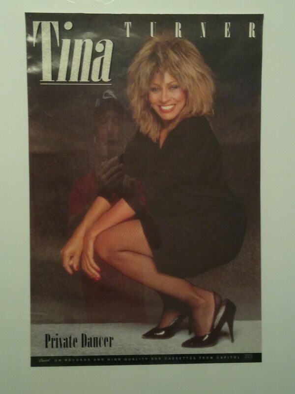 Tina Turner 1984 Private Dancer PROMO POSTER 24x36 Vintage