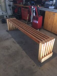 8 foot bench made of 2x4