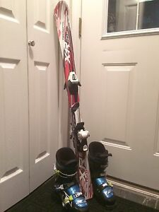 Junior Downhill Skis and Boots