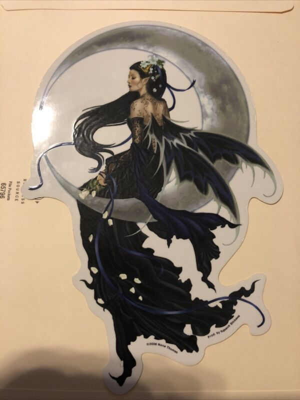 Nene Thomas Solace Fairy Cresent Moon Sticker/decal Vintage 2006