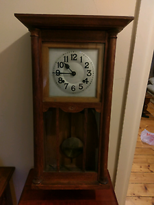 1920 Junghans Oak Wall Clock Essendon Moonee Valley Preview