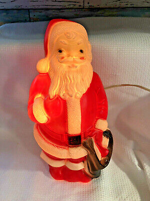 """Vintage Lighted 1968 Empire Blow Mold Christmas Santa Claus 13"""" Tall NICE"""