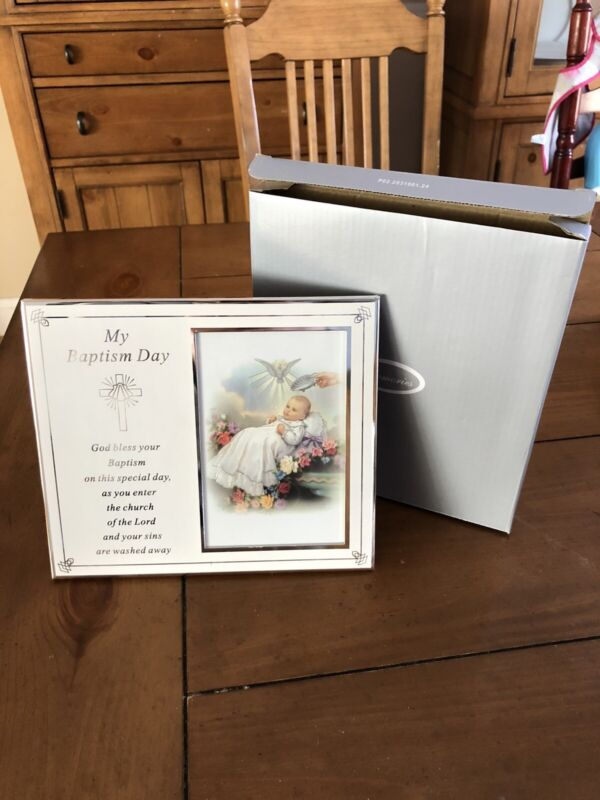 MY BAPTISM DAY Commemorative Picture Frame New With Box