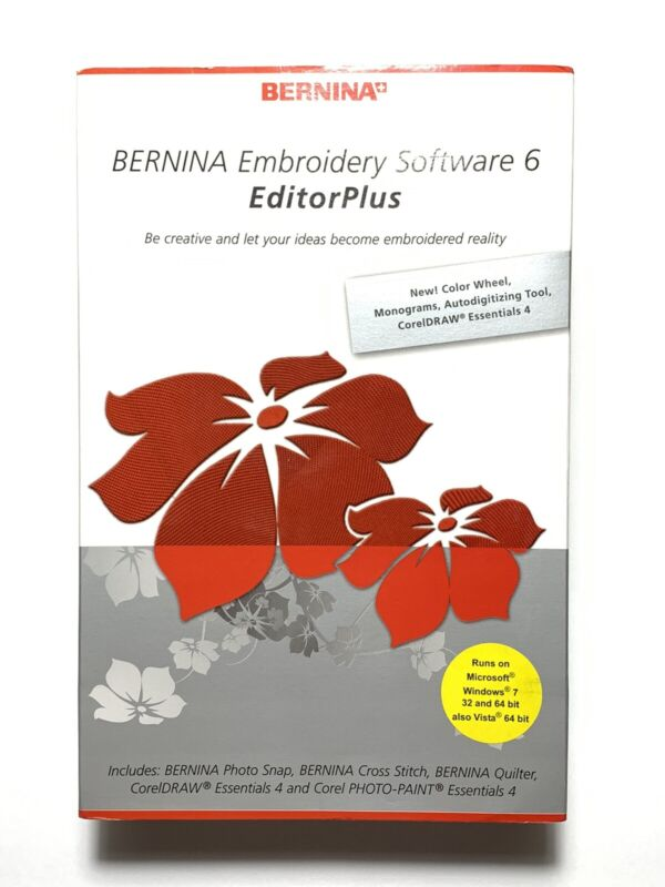 New Bernina Embroidery Software 6 EditorPlus - Never Used Open Box Submit Offers