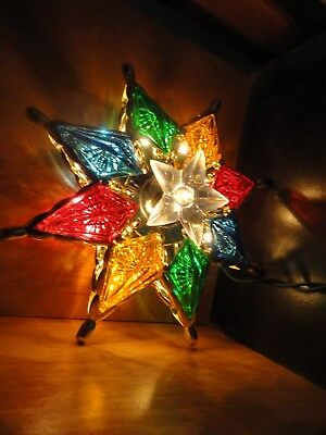 LIGHTED MULTI-COLORED CHRISTMAS TREE TOPPER