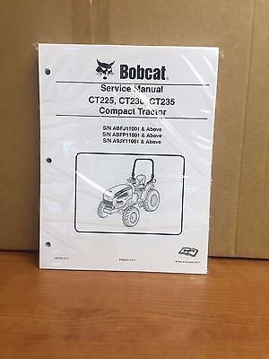 Bobcat Ct225 Ct230 Ct235 Compact Tractor Service Manual Shop Repair Book 6987029