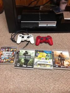 PS3 + Controllers + Games
