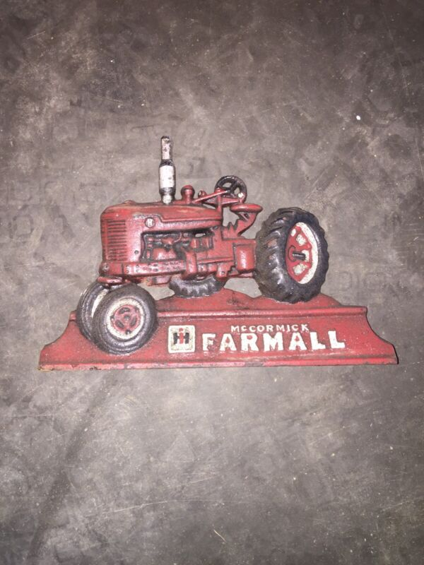 Farmall IH McCormick International Tractor Door Stop Cast Iron Solid Metal 3LBS!