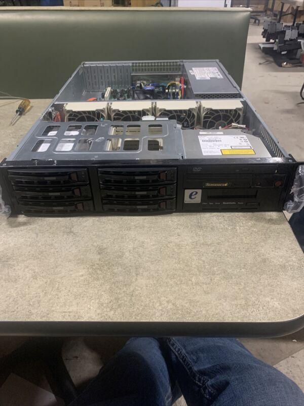 SuperMicro 2U CSE-822 Rackmount Server 2gb RAM 2x250 gb hdd