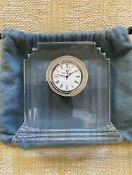Waterford Crystal Glass Metropolitan Clock 5x6...NIB Retail 175