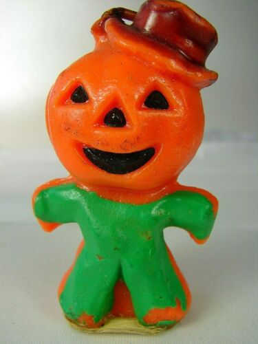 Vintage Gurley Halloween Jack-O-Lantern Scarecrow #4 - Nearly Perfect & Complete