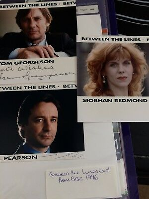 Between The Lines Cast Signed Neil Pearson 1996