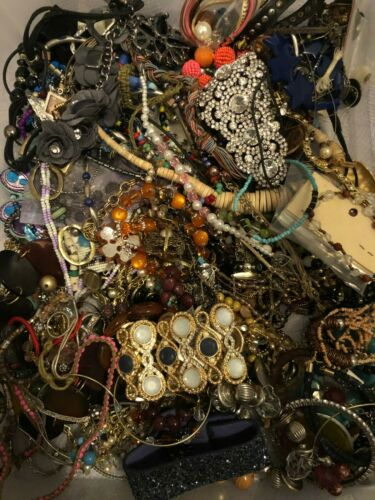 5 lbs Jewelry Lot for Crafting/Repurpose (#25)