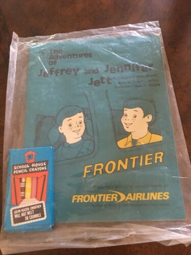 Frontier Airlines 1972 kids coloring book...still sealed!