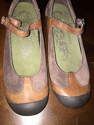 MERRELL Mary Jane Wedge WOMEN'S Plaza MJ Saddle Brown Comfort Shoes 7 US 4.5 UK