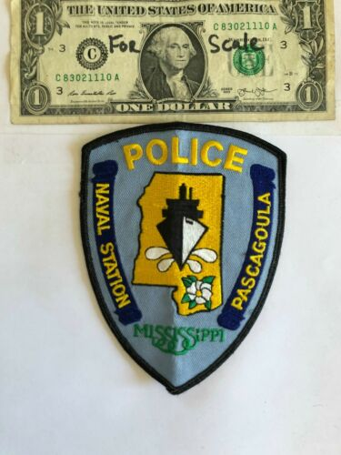 Pascagoula Mississippi Naval Station Police Patch Pre-sewn Great condition